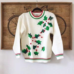 Vintage Mistletoe Christmas Sweater